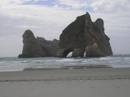 Whaririki Beach, just west of Cape Farewell